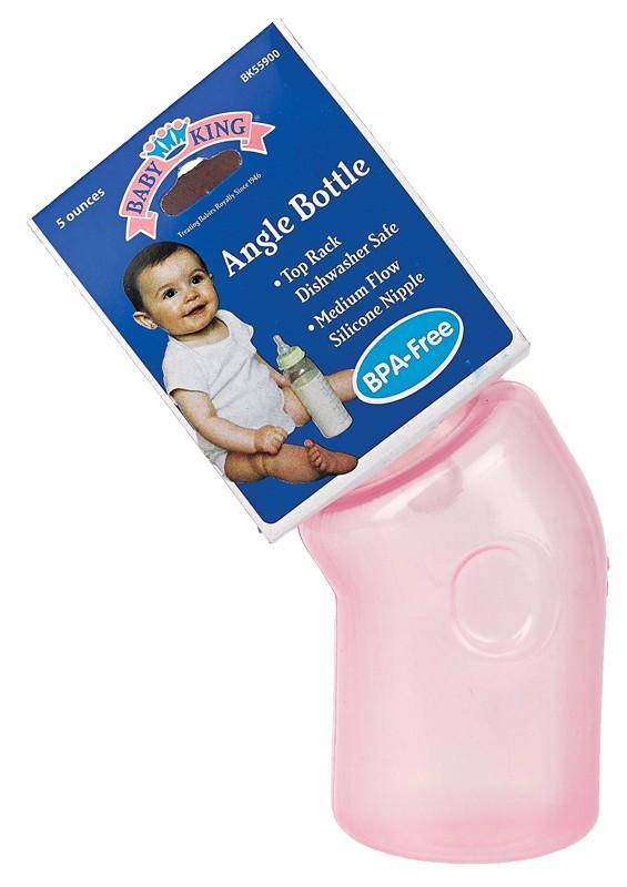 Baby King 5 Oz. Angle Bottle Bpa Free