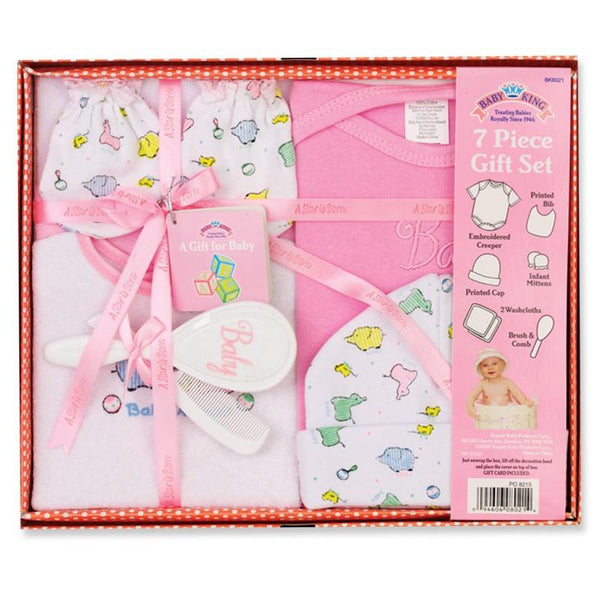 Baby King 7 Piece Baby Shower Gift Set