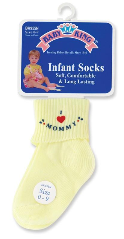 Baby King I Love Mommy & Daddy Socks