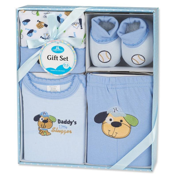 Crib Mates 4-Piece Baby Shower Gift Set (0-6 months)