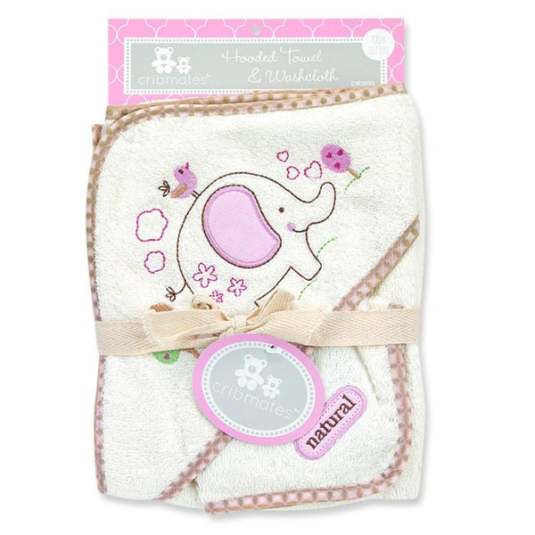 Crib Mates Hooded Towel & Washcloth