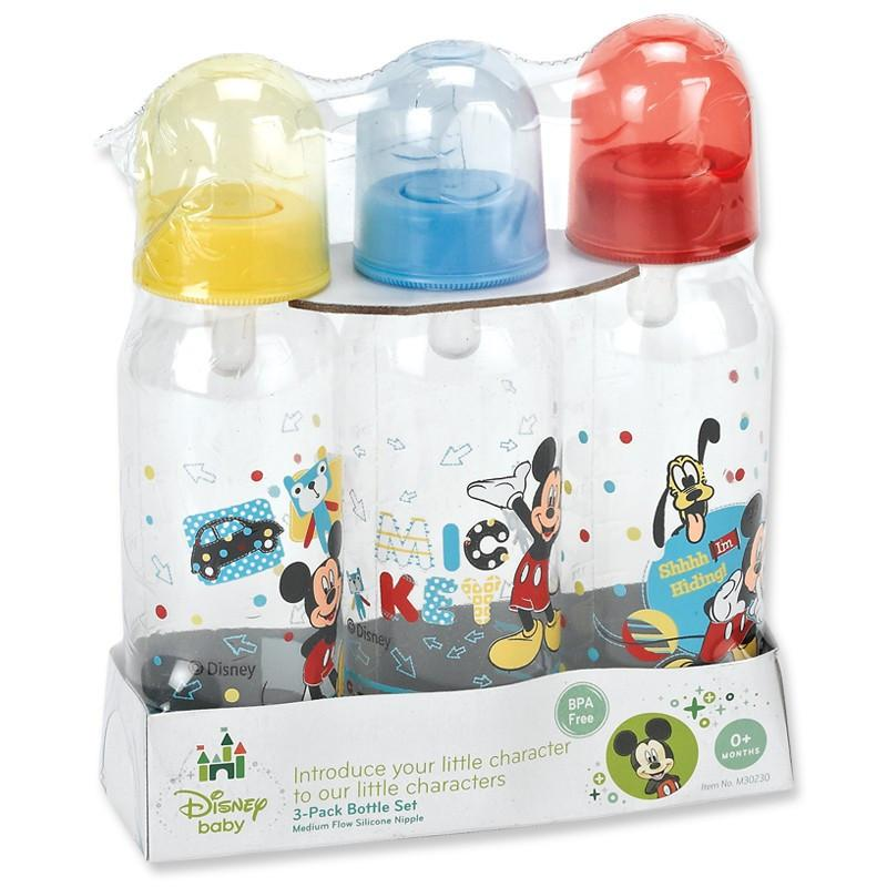 Disney Mickey Mouse 3pk 9oz Bottle Set