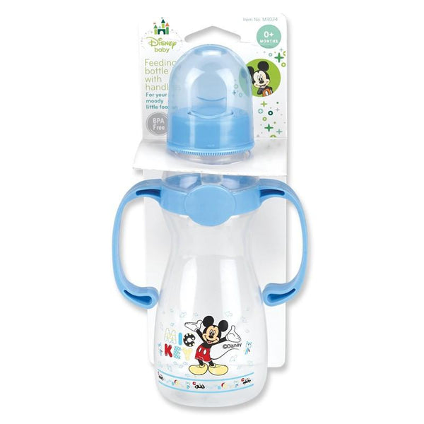 Disney Baby Mickey Mouse 8oz Bottle W/ Handles