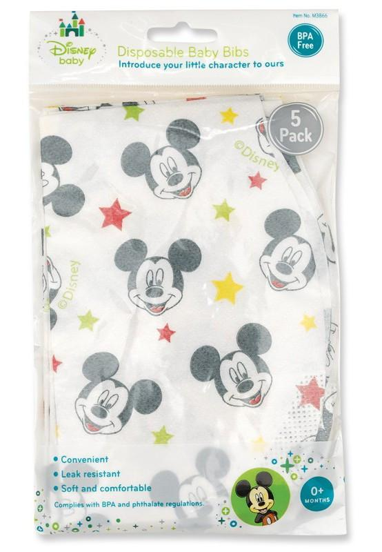 Disney Baby Mickey Mouse 5pk Disposable Bibs