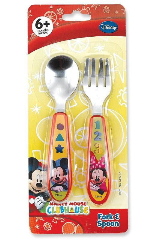Disney Mickey 2pk Fork And Spoon Set