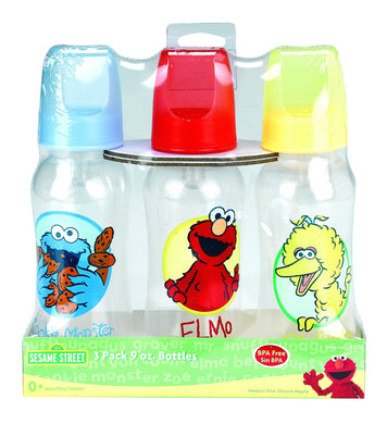 Sesame Street 3pk 8oz Bottle Set