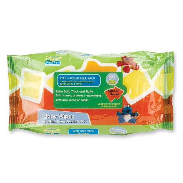 Sesame Street Baby Wipes (80 Count) with Aloe Vera