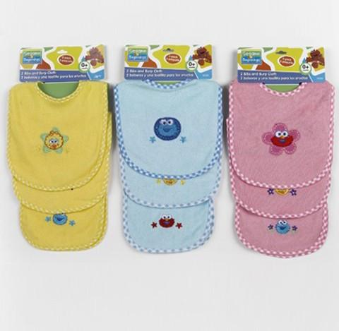 Sesame Street Baby Bibs & Burp Cloth Set (2 Pack)