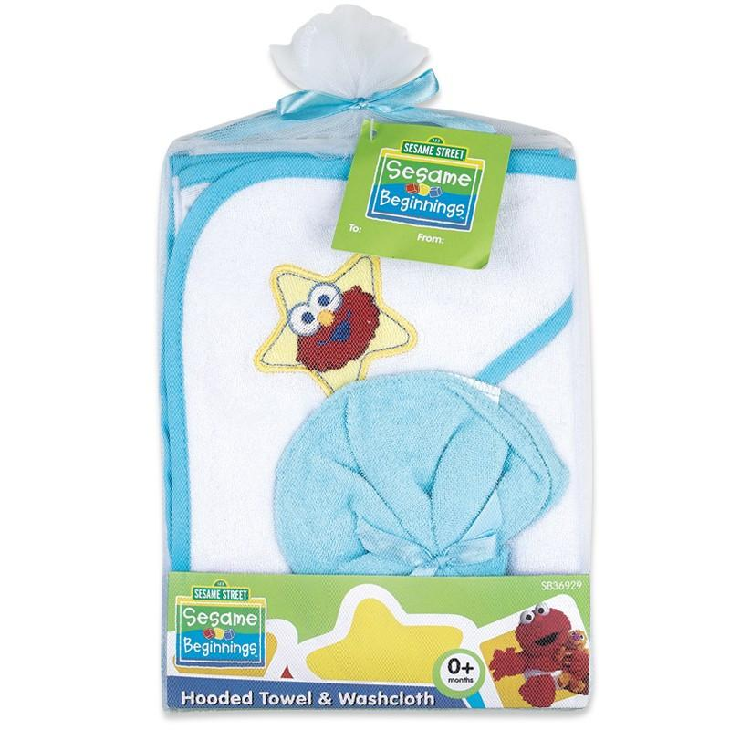 Sesame Street Hooded Towel With Washcloth
