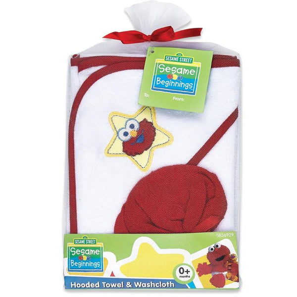 Sesame Street Baby Hooded Towel With Washcloth