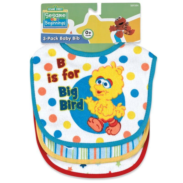 Sesame Street Baby Terry Bib Set (3 Pack)