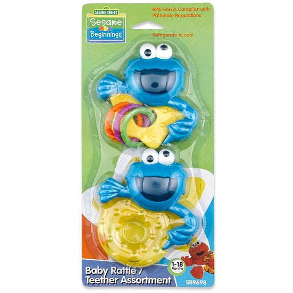 Sesame Street 2pc Rattle & Teether Set