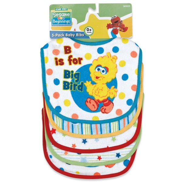 Sesame Street Baby Terry Bib Set (5 Pack)