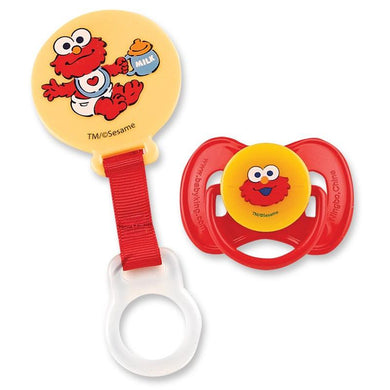 Sesame Street Pacifier And Holder Set Bpa Free