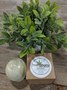 Huntsboro Hemp Company | CBD Tincture derived from Industrial Hemp | Bath bomb: Lavender, rose hip, ylang ylang, eucalyptus, peppermint