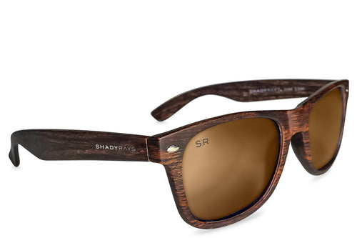 Shady Rays - Classic - Amber Woods Polarized - Sunglasses - Sunshades Outlet