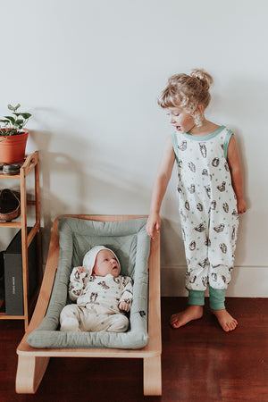Children's Organic Sloth Playsuit