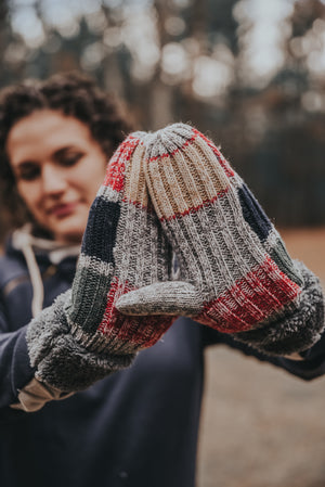 Women's Patchwork Mittens