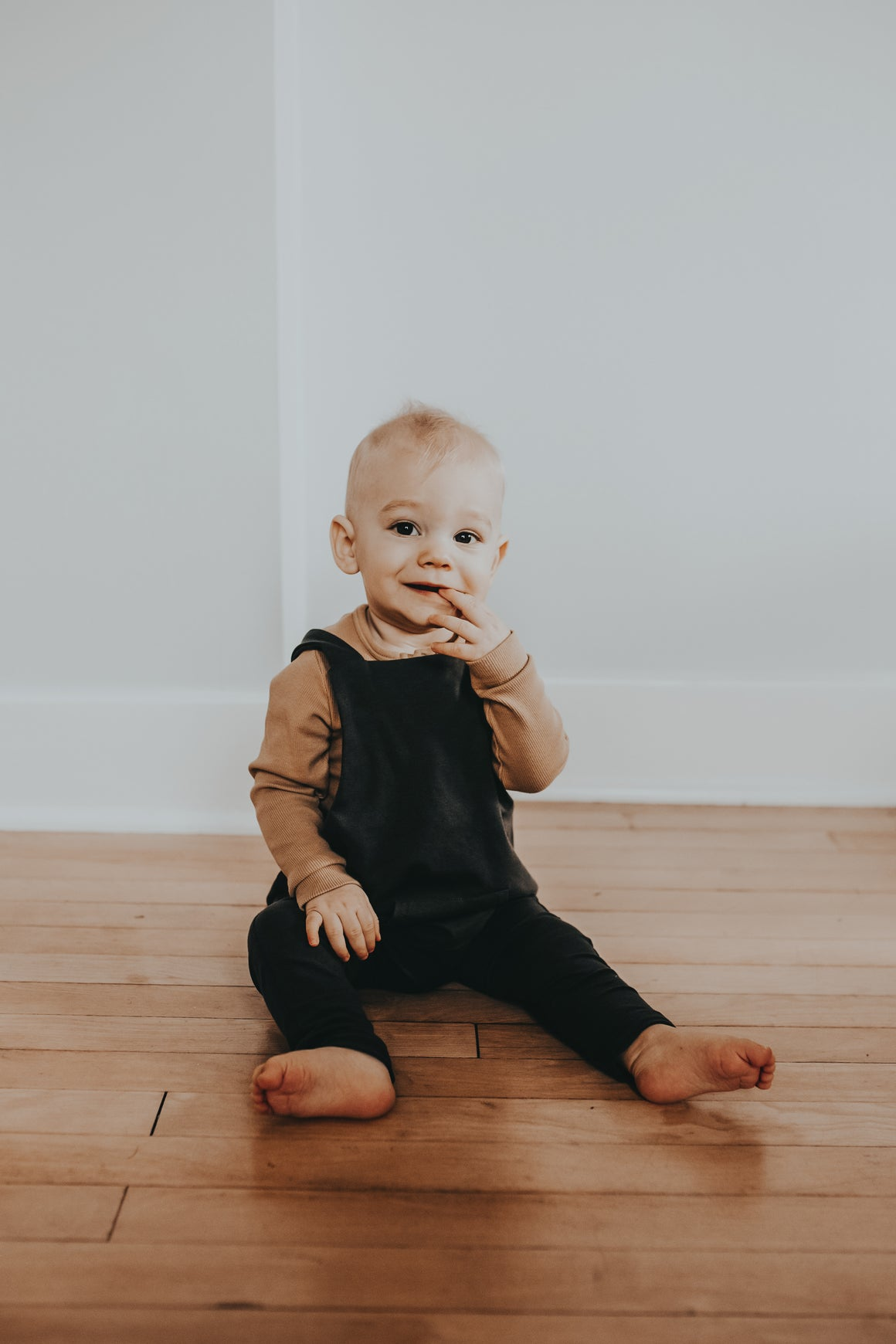 Baby/Toddler Organic Olive Suspender Pants