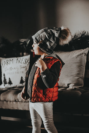 Children's Orange Hooded Vest
