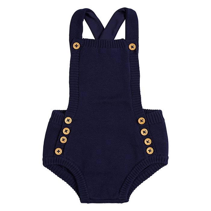 Navy Knit Bodysuit