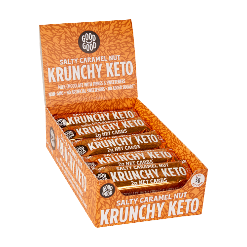 Krunchy Keto Bar - Salty Caramel Nut 1.23 oz (35 gr), 15 count box