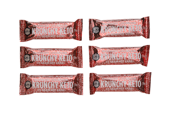 Krunchy Keto Bar - Raspberry Cheesecake - 6 x 35g