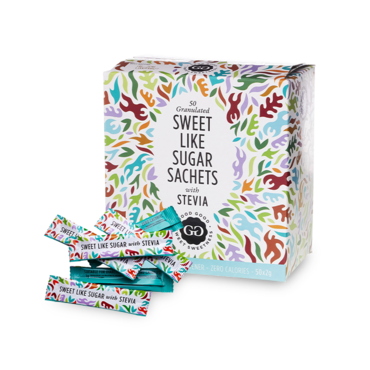 Good Good Stevia Sweeteners Sticks (500 x 1,5g) - Perfect Sweetener For Coffee or Tea!