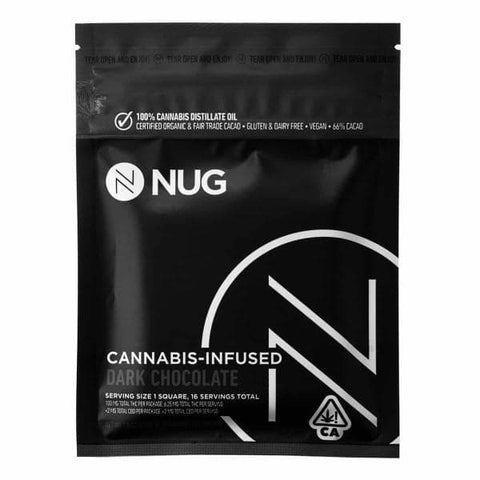 Dark Chocolate Bar 100mg - NUG