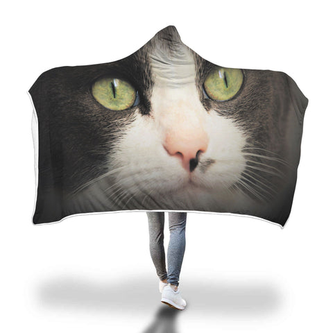 Cat eyes design hooded blanket - ozsweetdeals