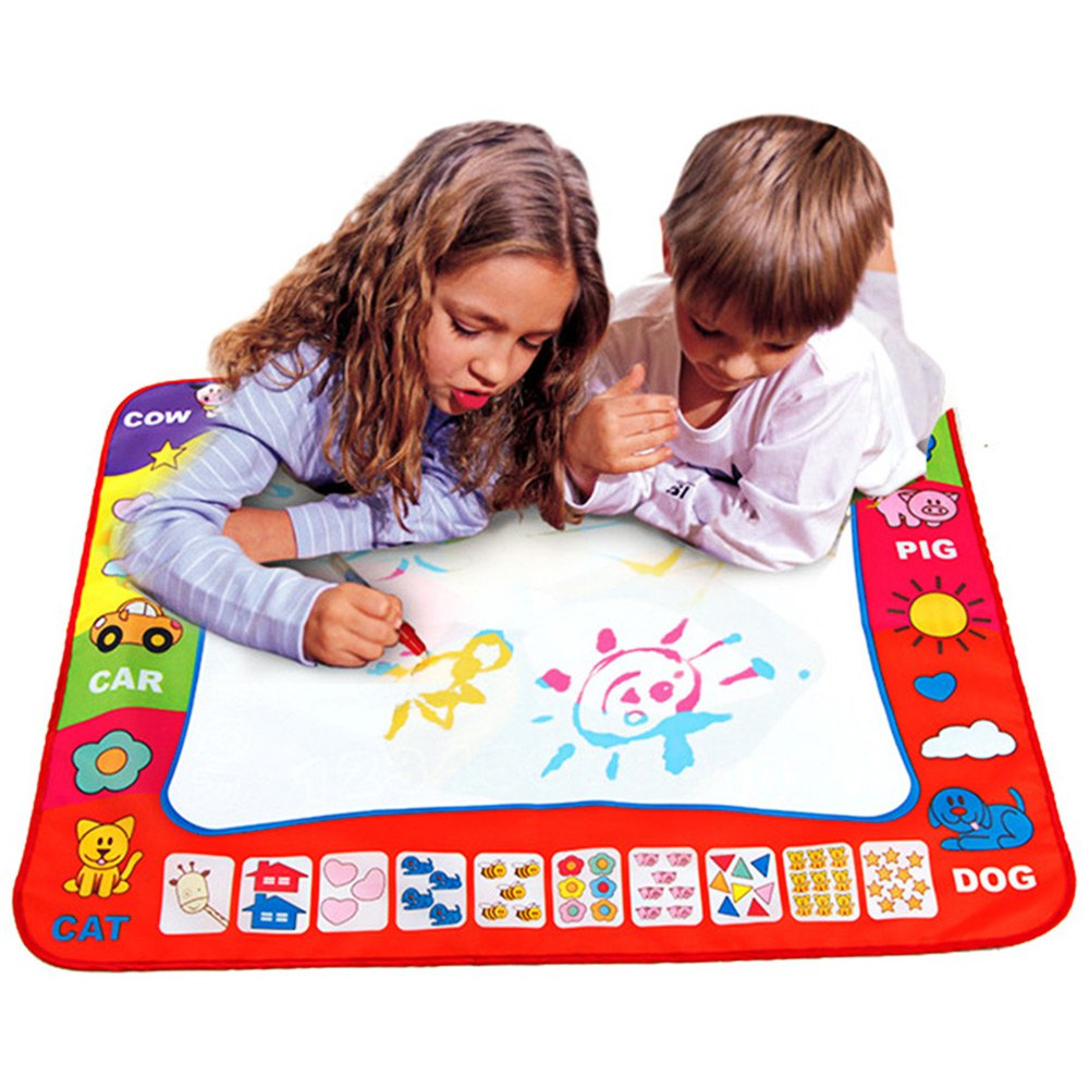 80 x 60cm play mat with Magic Pen Painting drawing just add Water for Drawing - ozsweetdeals