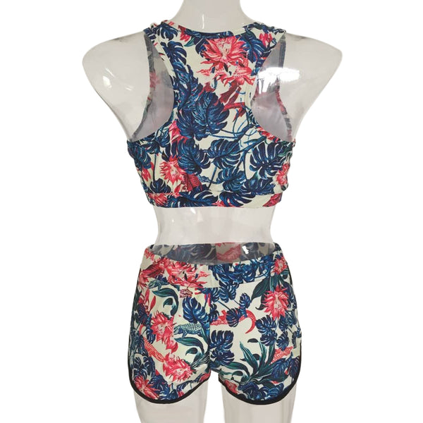 Floral Print High Waist Women's Swimsuit - ozsweetdeals