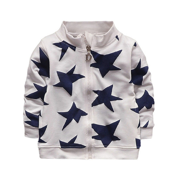 Warm cotton Infant Toddler Star Print jacket - ozsweetdeals