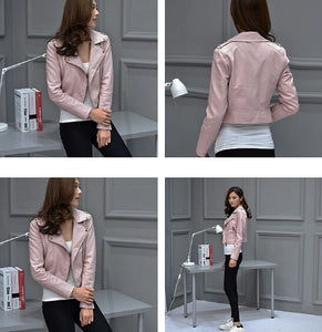 PU Leather Jacket for Women - ozsweetdeals