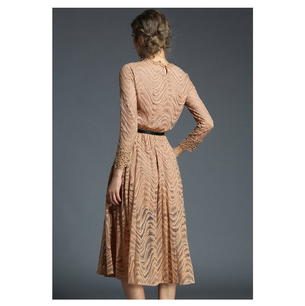 Women's Lace  Hollow Out Long Dress - ozsweetdeals