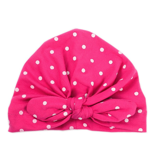 Baby Girls Hat with Bow Candy Color Baby Turban Caps - ozsweetdeals