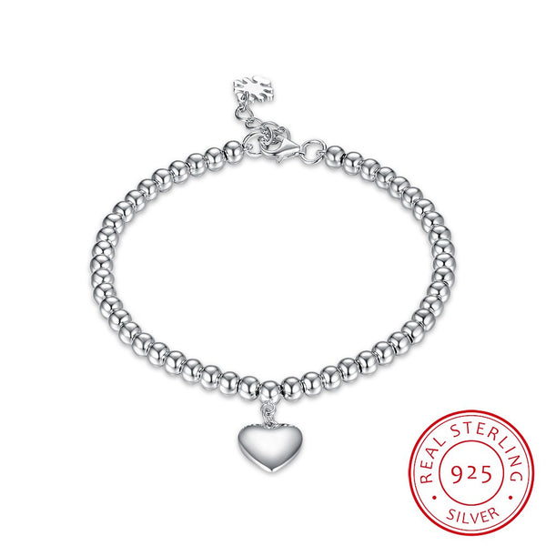 S925 Sterling Silver Ladies Fashionable Bracelet Heart-Shaped Romantic Bracelet - ozsweetdeals