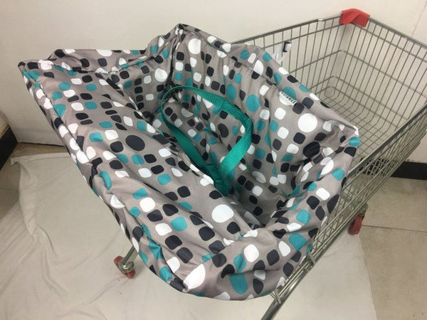 5 Styles-Starfish Ocean Elephant Blue dot Multifunctional 2-in-1 Shopping Cart Cover High Chair Cover for Baby & Infant - ozsweetdeals