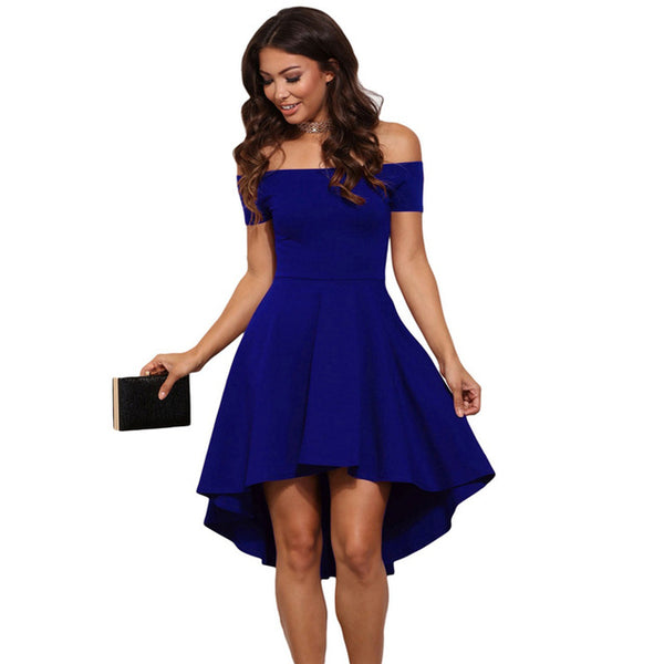 Women Short Sleeves A-Line princess Knee-length dresses - ozsweetdeals