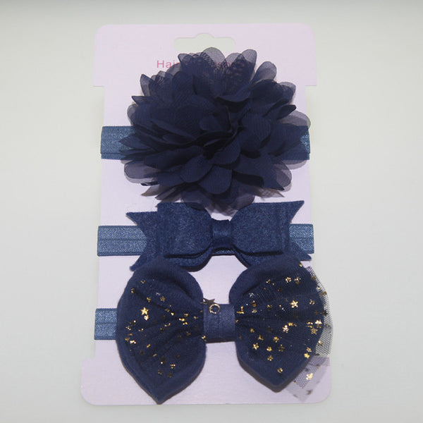 3pc baby girl boy elastic flower headband children elastic hair Band - ozsweetdeals