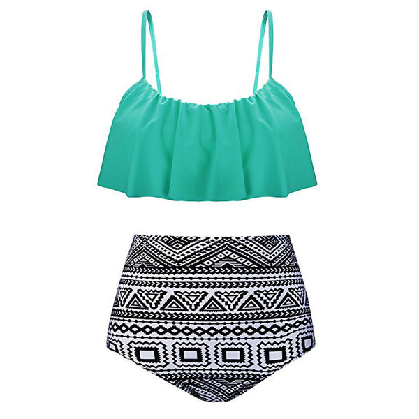 Women's High Waist Bikinis Swimwear