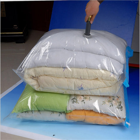 Home Transparent  Foldable Vacuum Bag for Clothes Organizer Seal Compressed