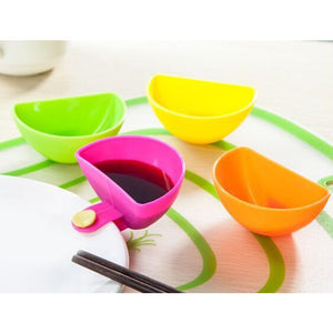 4 PCS  Dip Saucers Assorted plate clips - ozsweetdeals