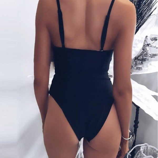 Women Bowknot One Piece Swimwear