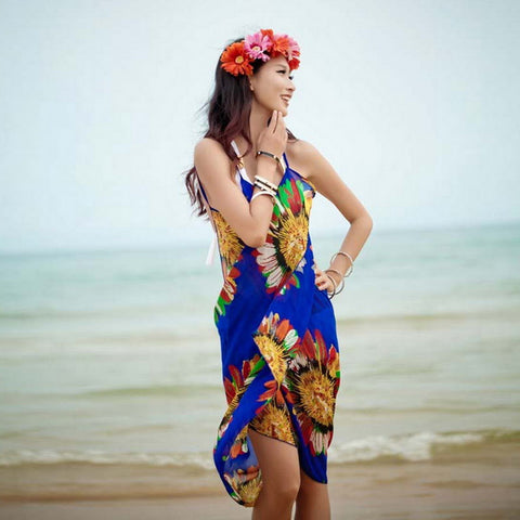 Women's Chiffon Tunic Backless Long swimsuit Cover Up - ozsweetdeals