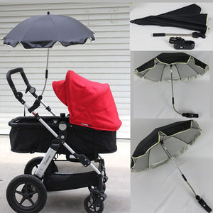 Stroller Umbrella Nylon Sun Canopy UV 360 Degrees Adjustable Direction Pram Umbrellas - ozsweetdeals