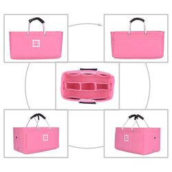 SAINT LAURENT Cabas medium Organizer GIFTS INCLUDED : Cable Holders+Lipstick Holders / Mini Wallet[Bubblegum Pink]