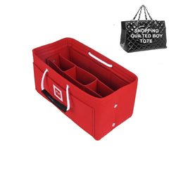 CHANEL Grand Shopping Tote Organizer [Sexy Red]