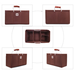 Keepall 50 Organizer GIFTS INCLUDED : 2Cable Holders+2 Lipstick Holders / Mini Wallet [Chocolate Brown]