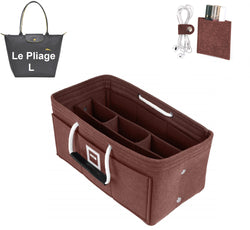 LONGCHAMPS LE PLIAGE L Organizer GIFTS INCLUDED : Cable Holders+Lipstick Holders / Mini Wallet[Chocolat Brown]
